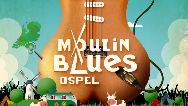 De poster voor Moulin Blues 2017! | Het toonaangevende Blues & Roots - festival van Nederland - Moulin Blues Ospel