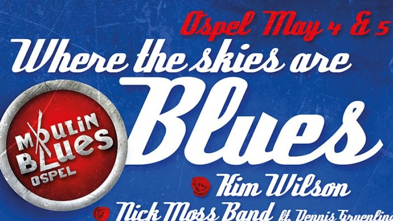 De poster voor Moulin Blues 2018 | Het toonaangevende Blues & Roots - festival van Nederland - Moulin Blues Ospel