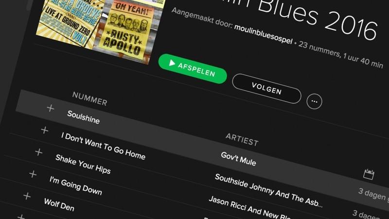 De Moulin Blues 2016 Spotify lijst   Het toonaangevende Blues & Roots - festival van Nederland - Moulin Blues Ospel