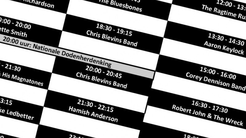 Timetable Moulin Blues 2018 | Het toonaangevende Blues & Roots - festival van Nederland - Moulin Blues Ospel